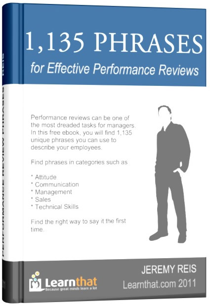 1,135 Performance Review Template Phrases Ebook | I Hate